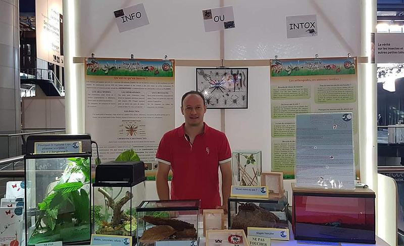 Fête de la Science avec l'Insectarium de Lizio, parc zoologique des petites bêtes en Bretagne.